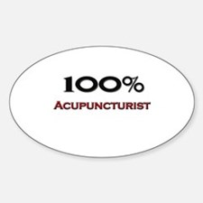 100 Percent Acupuncturist Oval Decal