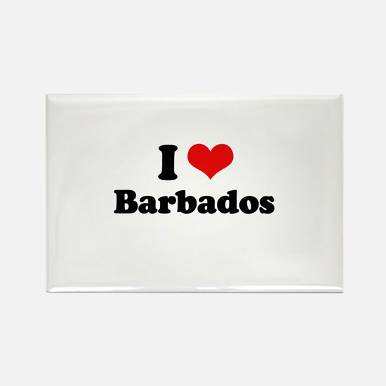 I love Barbados Rectangle Magnet