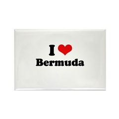 I love Bermuda Rectangle Magnet (10 pack)