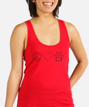 Peace Love Paws (Clear) Racerback Tank Top