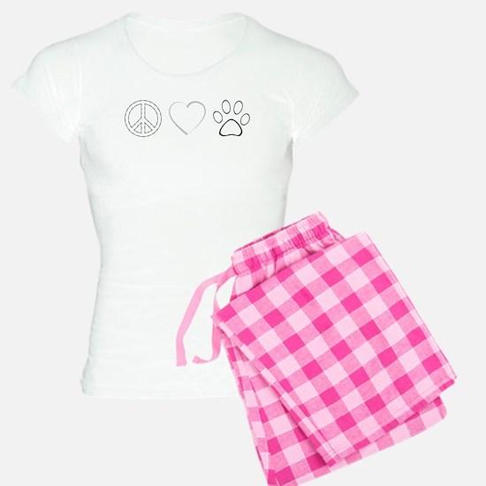 Peace Love Paws (Clear) Pajamas