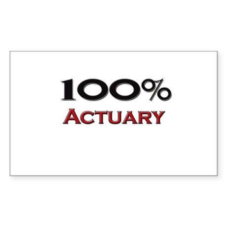 100 Percent Actuary Rectangle Sticker