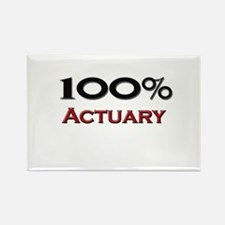 100 Percent Actuary Rectangle Magnet
