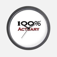 100 Percent Actuary Wall Clock
