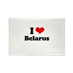 I love Belarus Rectangle Magnet