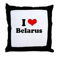 I love Belarus Throw Pillow
