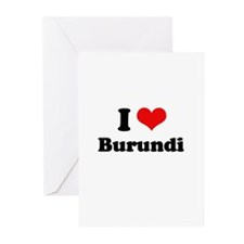I love Burundi Greeting Cards (Pk of 20)
