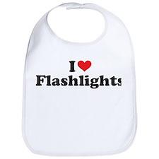 I Heart/Love Flashlights Bib