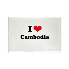 I love Cambodia Rectangle Magnet