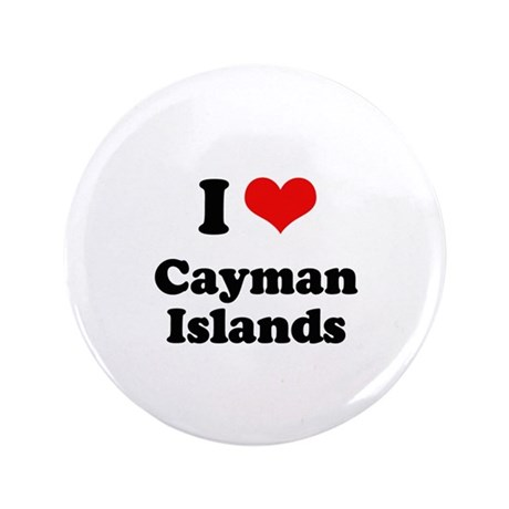 "I love Cayman Islands 3.5"" Button"
