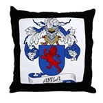Avila Family Crest Throw Pillow