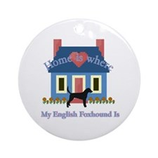 English Foxhound Home Ornament (Round)