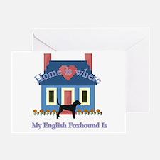 English Foxhound Home Greeting Card