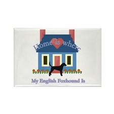 English Foxhound Home Rectangle Magnet (10 pack)