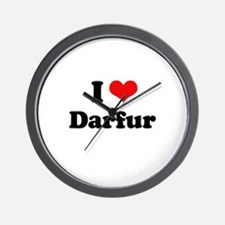 I love Darfur Wall Clock
