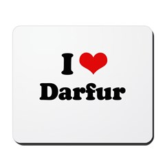 I love Darfur Mousepad