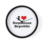 I love Dominican Republic Wall Clock