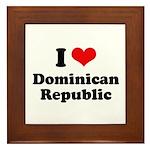 I love Dominican Republic Framed Tile
