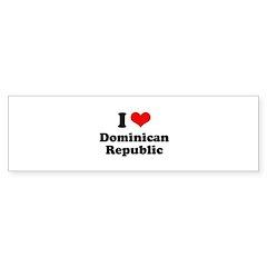 I love Dominican Republic Bumper Sticker (50 pk)