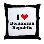 I love Dominican Republic Throw Pillow