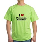 I love Dominican Republic Green T-Shirt