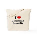 I love Dominican Republic Tote Bag