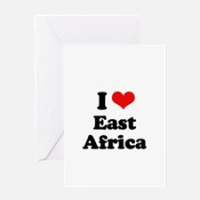 I love East Africa Greeting Card