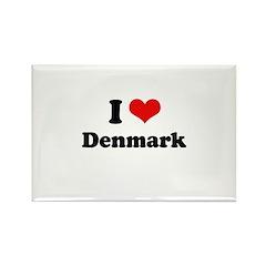 I love Denmark Rectangle Magnet