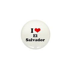 I love El Salvador Mini Button (10 pack)