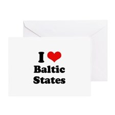 I Love Baltic States Greeting Card