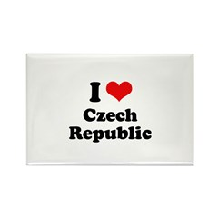 I love Czech Republic Rectangle Magnet (100 pack)