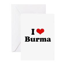 I love Burma Greeting Cards (Pk of 20)