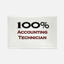 100 Percent Accounting Technician Rectangle Magnet