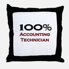 100 Percent Accounting Technician Throw Pillow