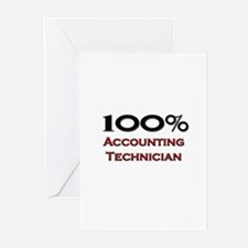 100 Percent Accounting Technician Greeting Cards (
