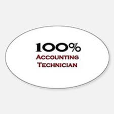 100 Percent Accounting Technician Oval Decal