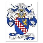 Ballasteros Family Crest Small Poster