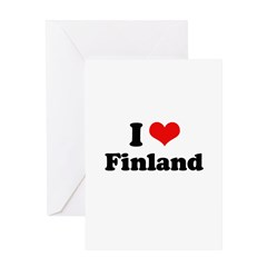 I love Finland Greeting Card