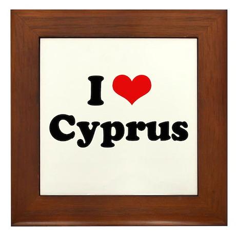 I love Cyprus Framed Tile