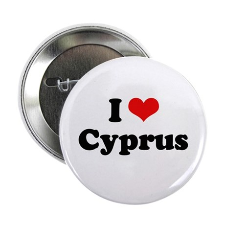 """I love Cyprus 2.25"""" Button (100 pack)"""