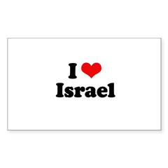 I love Israel Rectangle Sticker 10 pk)