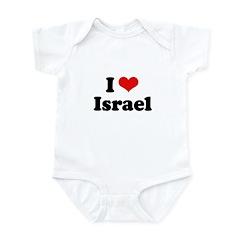 I love Israel Infant Bodysuit