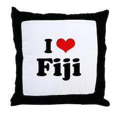 I love Fiji Throw Pillow