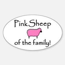 Pink Sheep Oval Decal