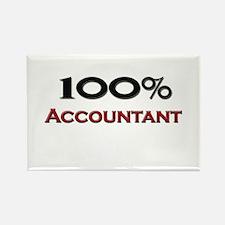 100 Percent Accountant Rectangle Magnet
