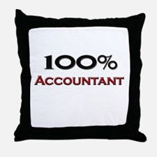 100 Percent Accountant Throw Pillow