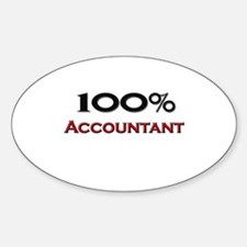 100 Percent Accountant Oval Decal
