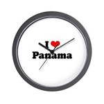 I love Panama Wall Clock