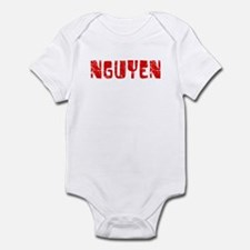 Nguyen Faded (Red) Infant Bodysuit