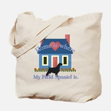 Field Spaniel Home Is Tote Bag